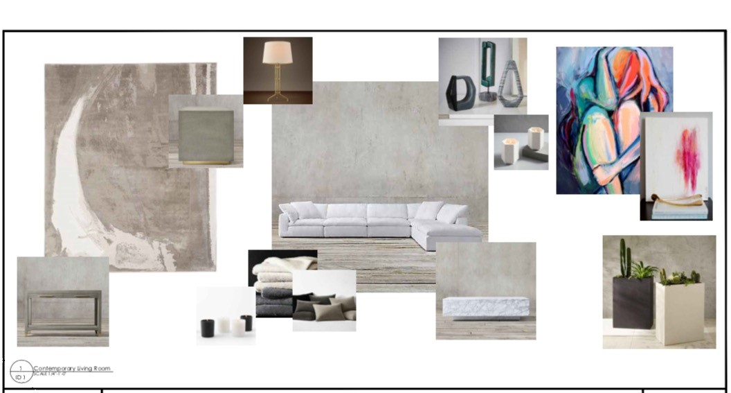E Design Mood Board Contemporary Living Room